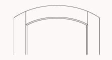 top rail arch raised panel door