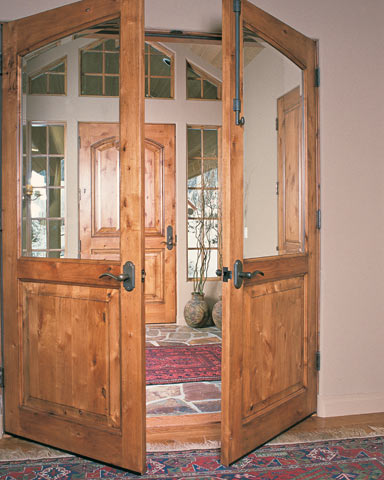raised panel doors in entry and antechamber