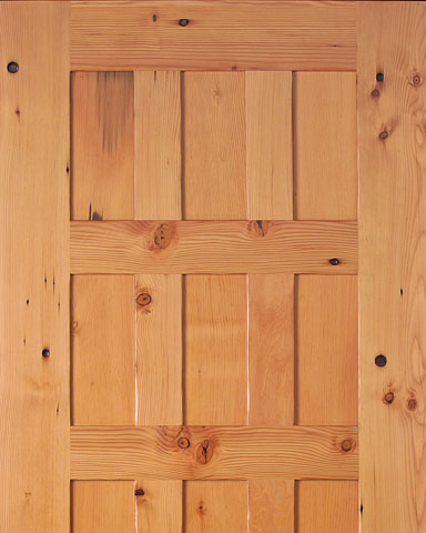 9 panel reclaimed wood door